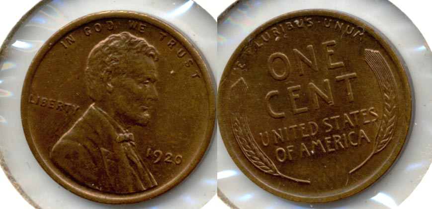 1920 Lincoln Cent MS-60 Brown b