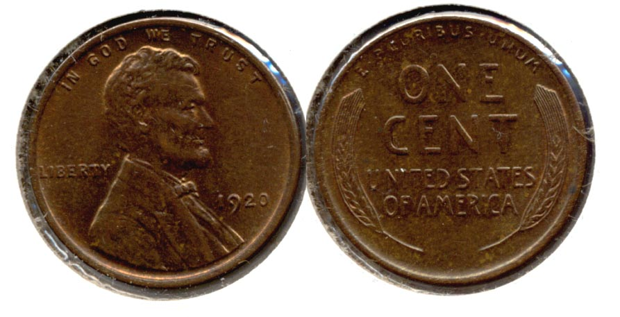 1920 Lincoln Cent MS-60 Brown d