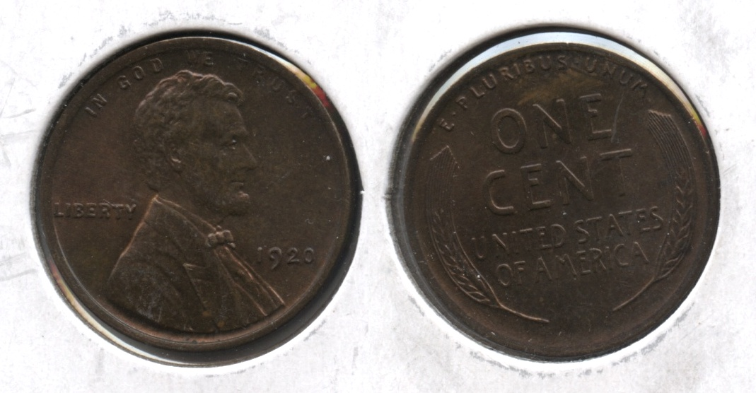 1920 Lincoln Cent MS-63 Red Brown #c