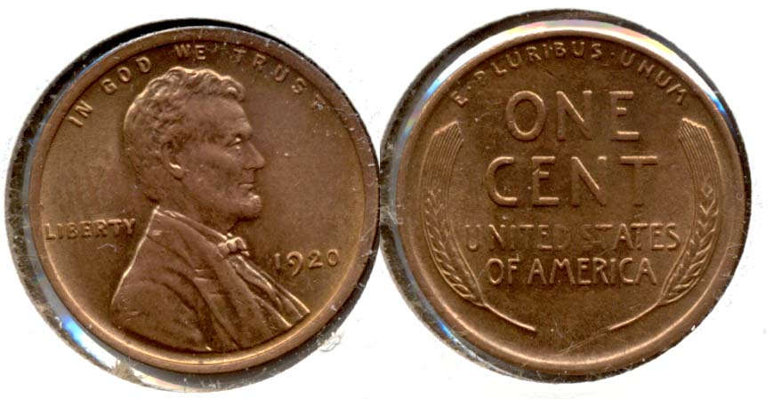 1920 Lincoln Cent MS-63 Red
