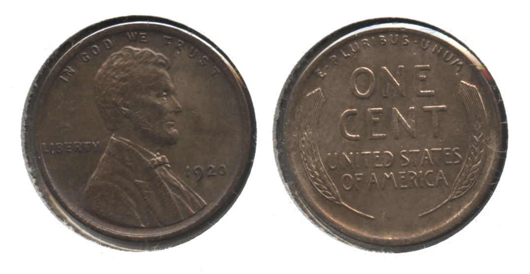 1920 Lincoln Cent MS-64 Red Brown #b