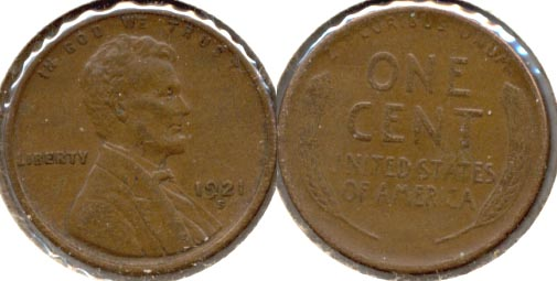 1921-S Lincoln Cent EF-40