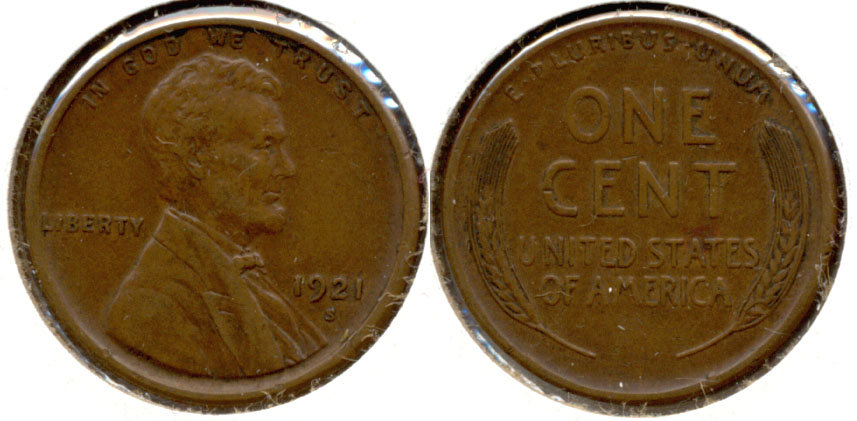 1921-S Lincoln Cent EF-40 c