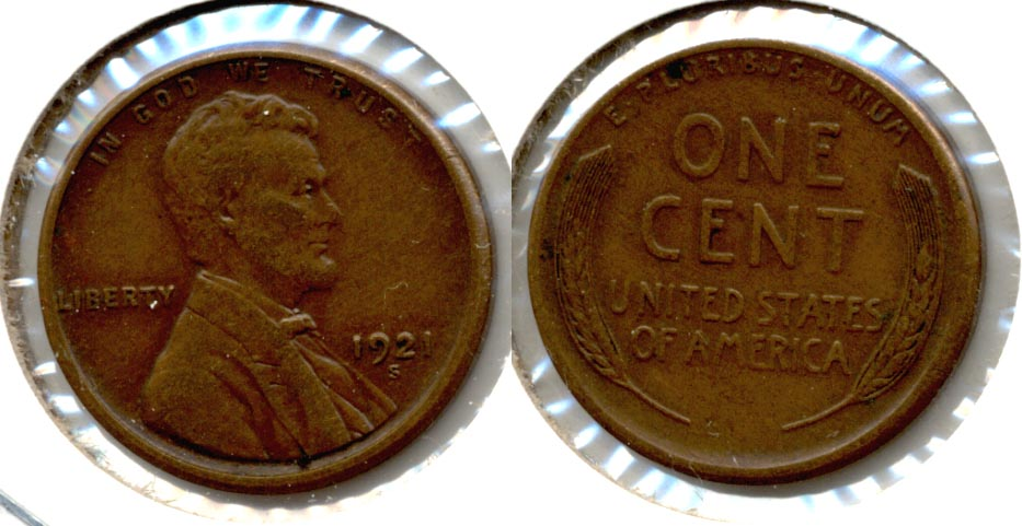 1921-S Lincoln Cent EF-40 n