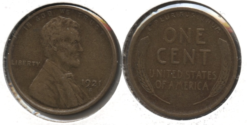 1921-S Lincoln Cent EF-40 #p