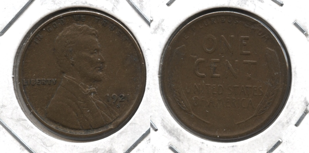 1921-S Lincoln Cent EF-40 #q Lamination