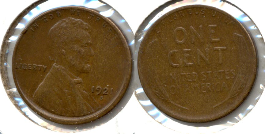 1921-S Lincoln Cent EF-45 b
