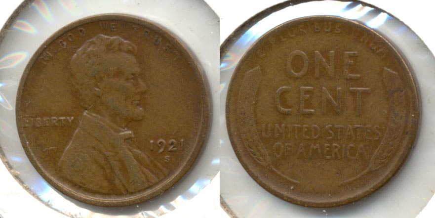 1921-S Lincoln Cent EF-45 c
