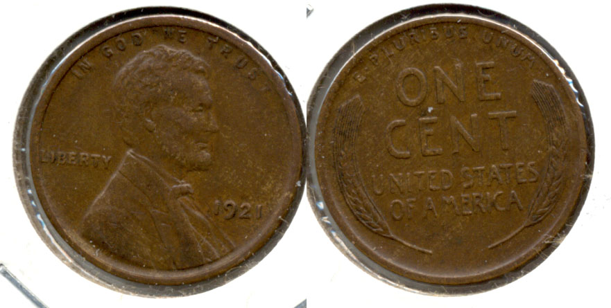 1921 Lincoln Cent EF-45