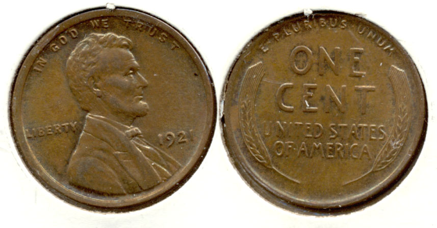 1921 Lincoln Cent MS-60 Brown