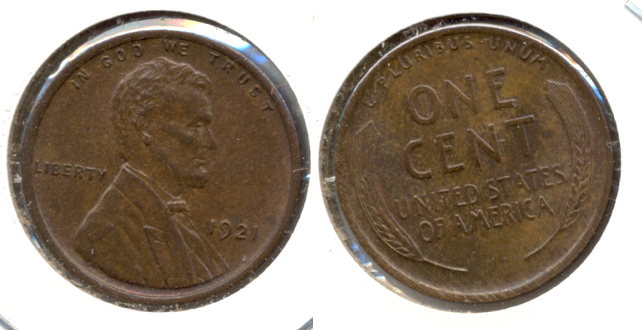 1921 Lincoln Cent MS-63 Brown