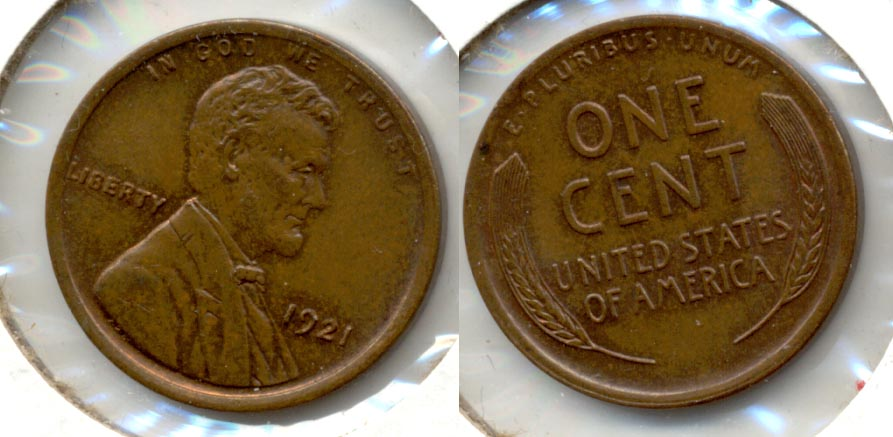 1921 Lincoln Cent MS-63 Brown b