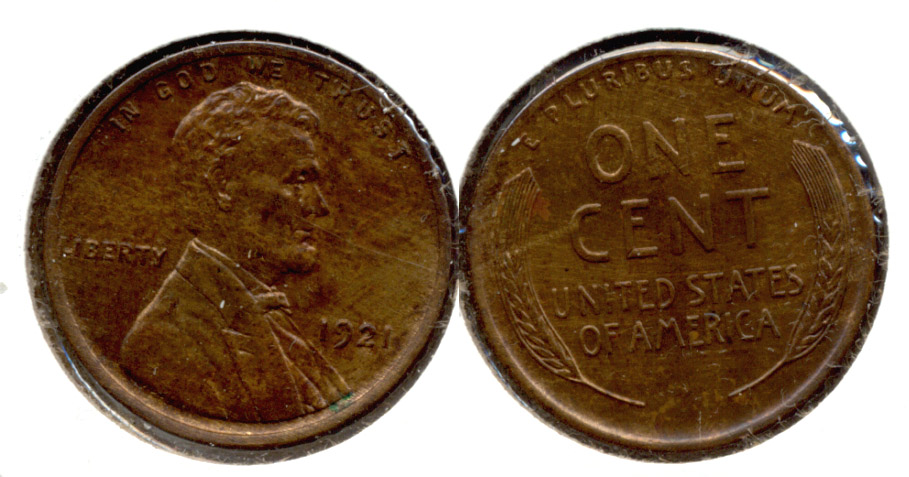 1921 Lincoln Cent MS-63 Brown c