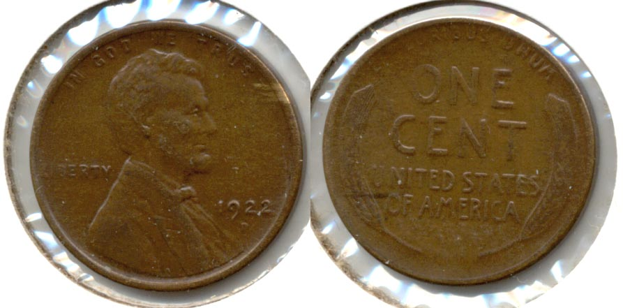 1922-D Lincoln Cent EF-45 c