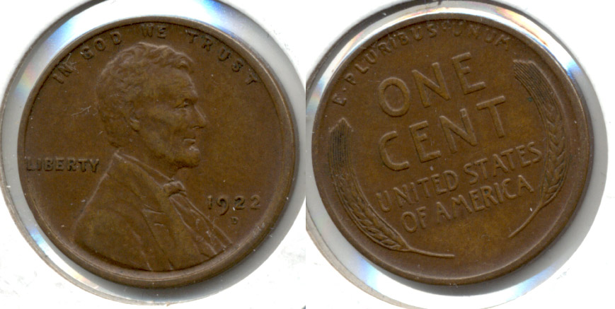 1922-D Lincoln Cent EF-45 f