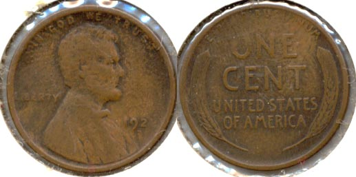1922-D Lincoln Cent F-12