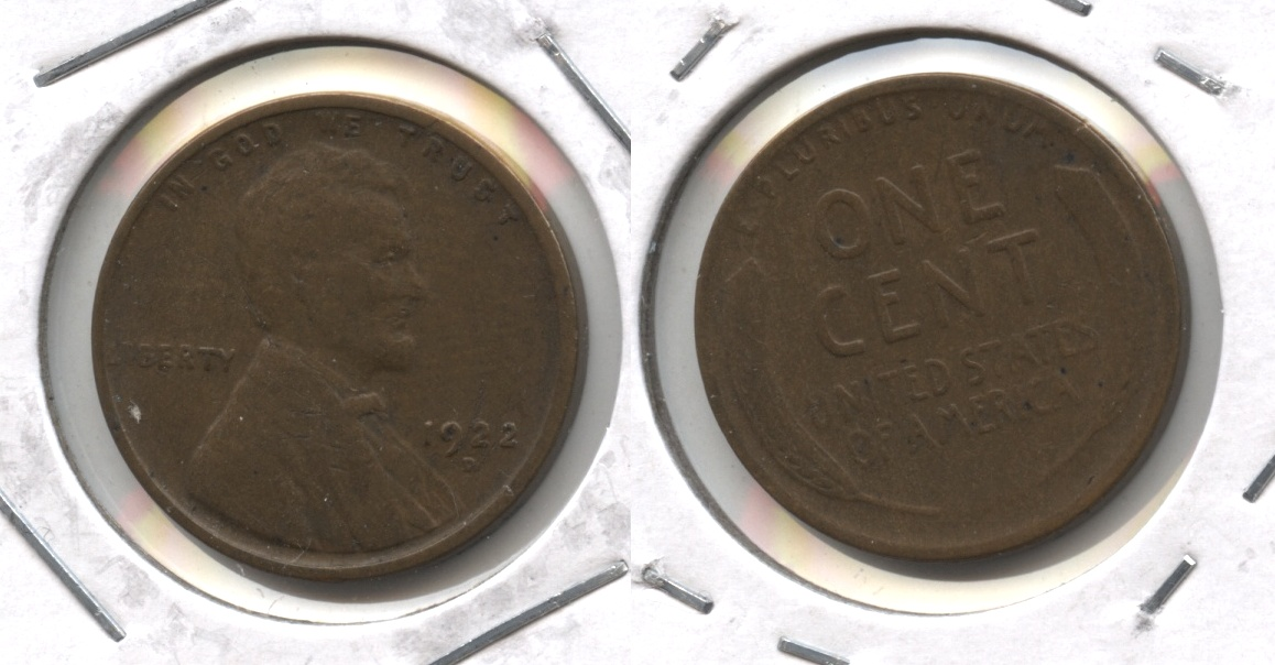 1922-D Lincoln Cent VG-8 #b