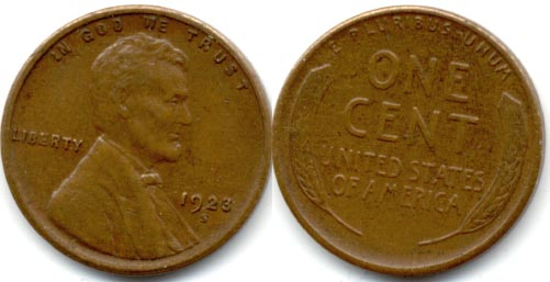 1923-S Lincoln Cent EF-40 a