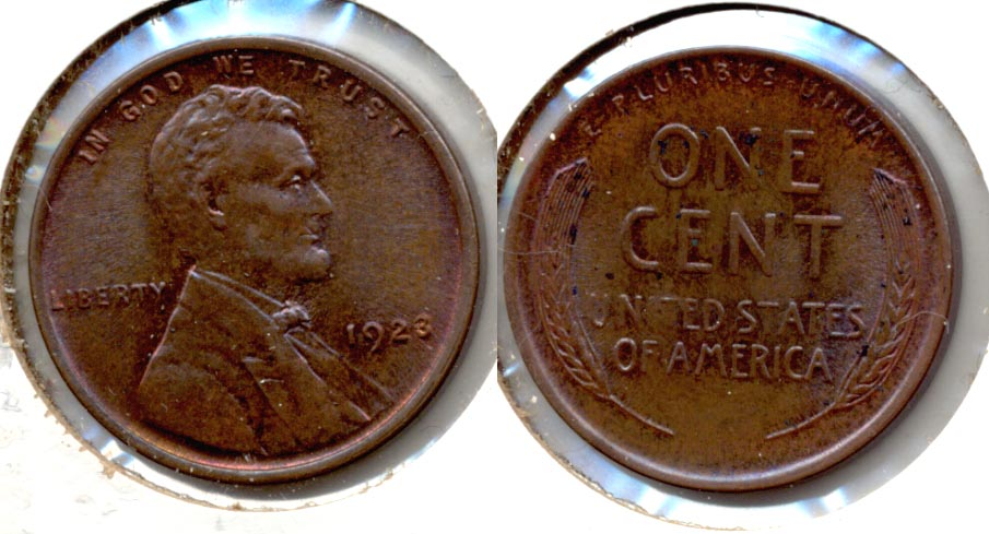 1923 Lincoln Cent MS-60 Brown