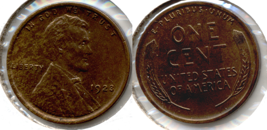 1923 Lincoln Cent MS-63 Brown a