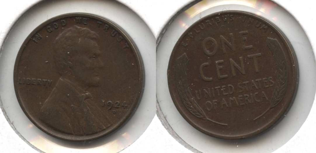 1924-D Lincoln Cent EF-40 #j