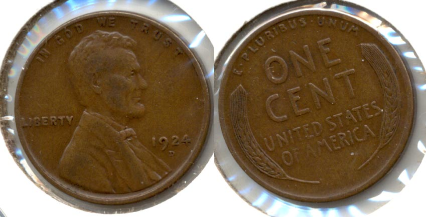 1924-D Lincoln Cent VF-20 a