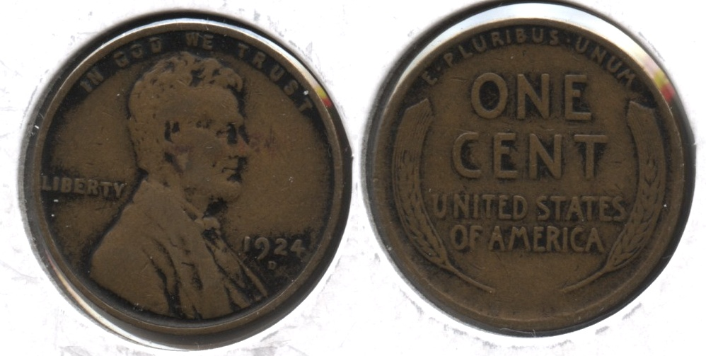1924-D Lincoln Cent VG-8 #d