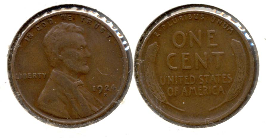 1924-S Lincoln Cent EF-40 d