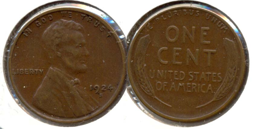 1924-S Lincoln Cent EF-45