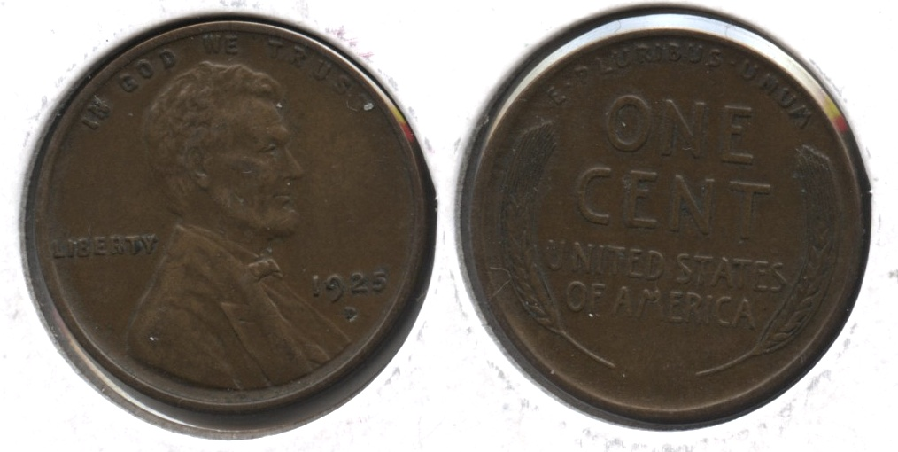 1925-D Lincoln Cent EF-40 #d