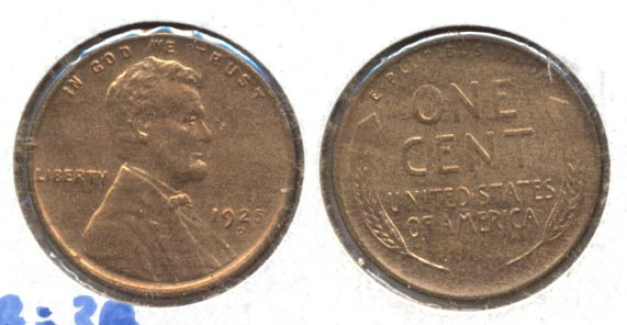 1925-D Lincoln Cent MS-63 Red Brown