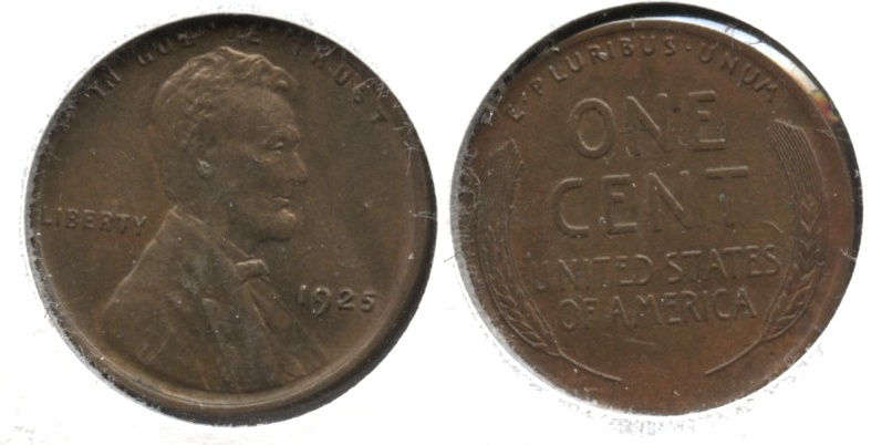 1925 Lincoln Cent MS-63 Brown #a