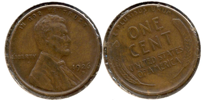 1926-D Lincoln Cent EF-45