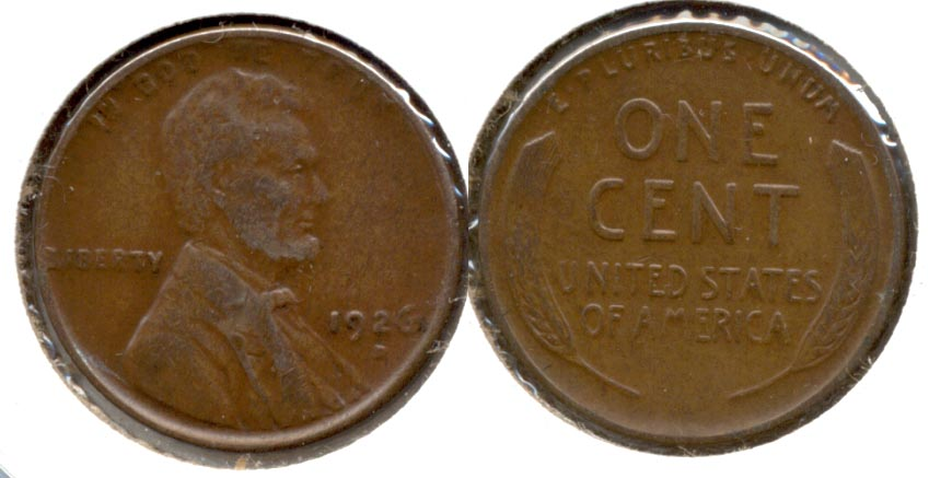 1926-D Lincoln Cent EF-45 a