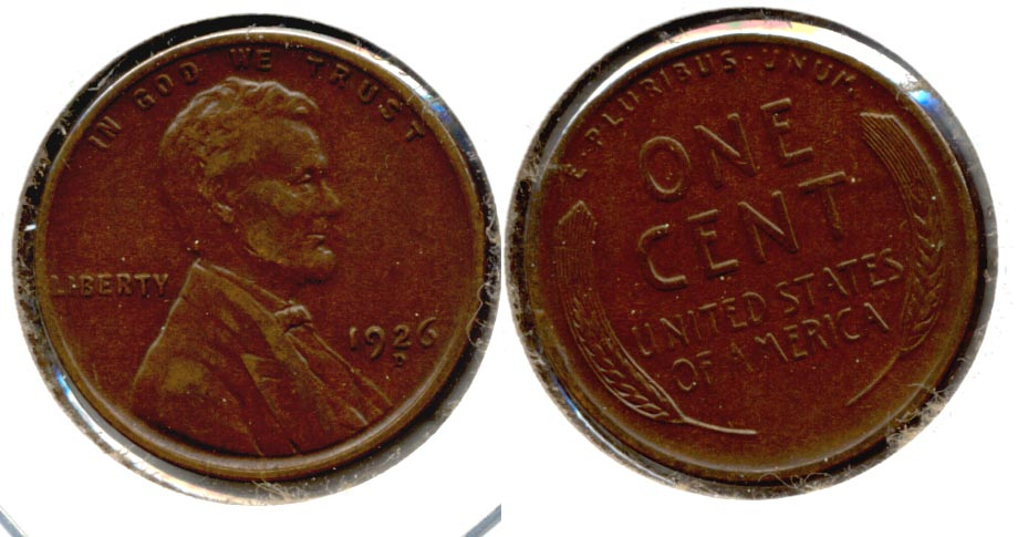 1926-D Lincoln Cent EF-45 b