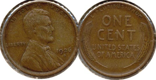 1926-S Lincoln Cent EF-40