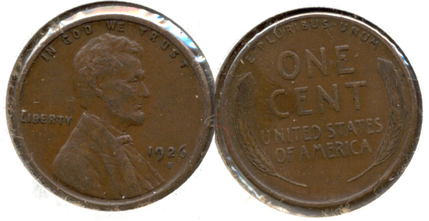 1926-S Lincoln Cent EF-40 a