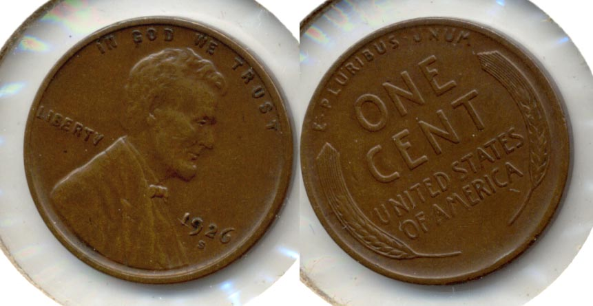 1926-S Lincoln Cent EF-40 k