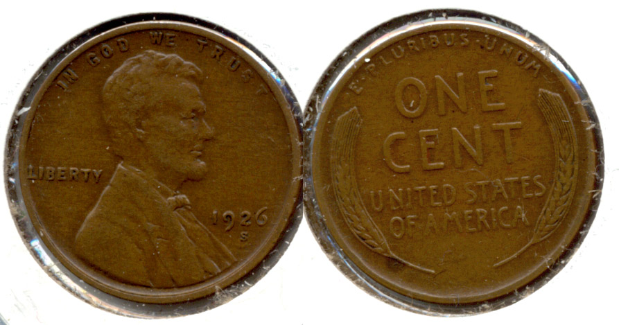 1926-S Lincoln Cent EF-40 n