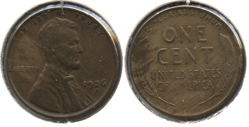 1926-S Lincoln Cent EF-40 Cleaned Retoned #q