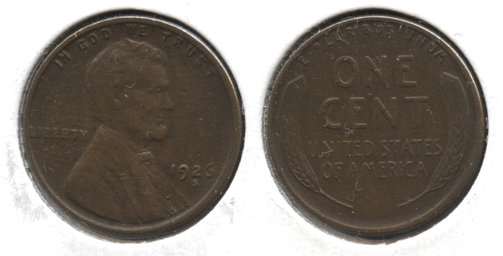 1926-S Lincoln Cent EF-40 #s