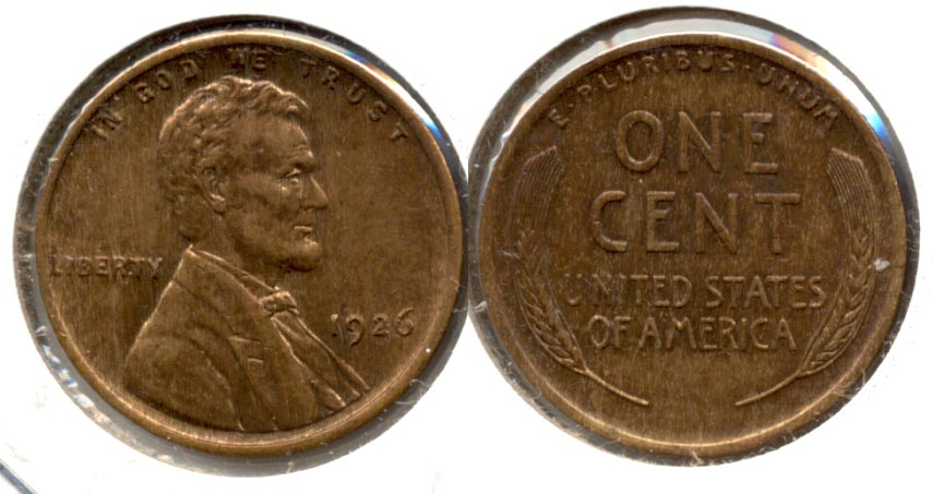 1926 Lincoln Cent MS-63 Red Brown c