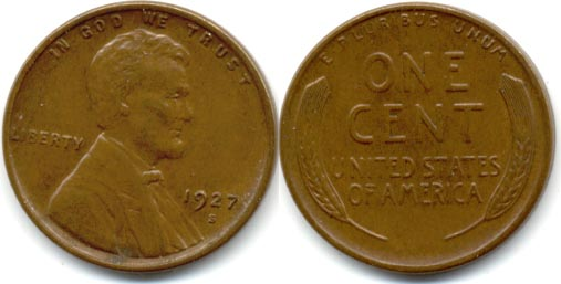 1927-S Lincoln Cent EF-40