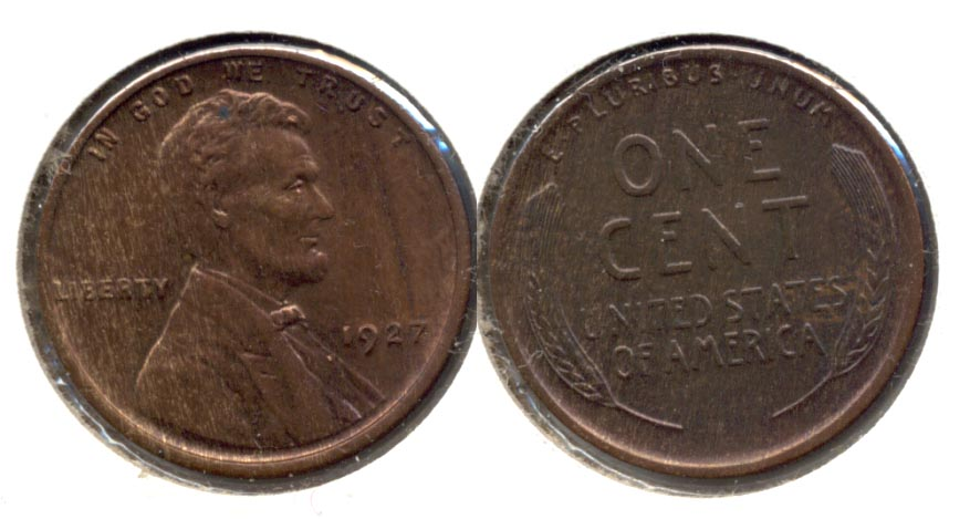 1927 Lincoln Cent MS-60 Brown