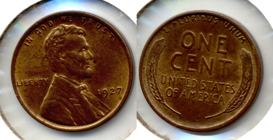 1927 Lincoln Cent MS-63 Brown b