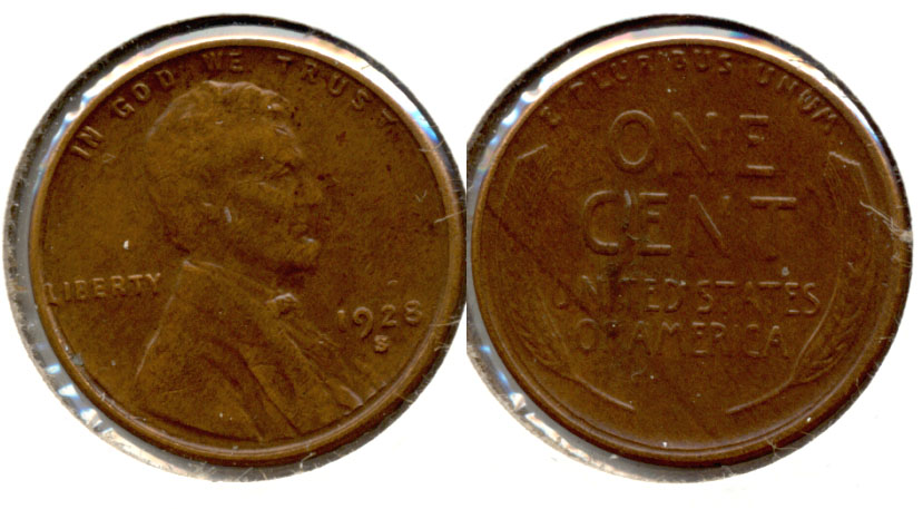 1928-S Lincoln Cent EF-40