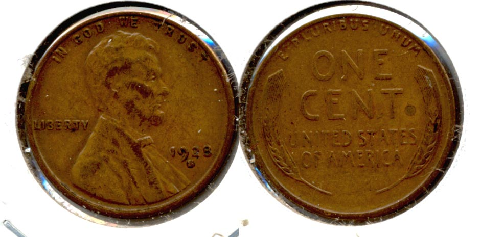 1928-S Lincoln Cent EF-40 f