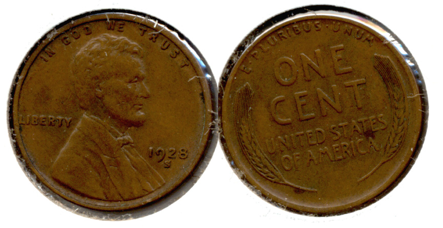 1928-S Lincoln Cent EF-40 h