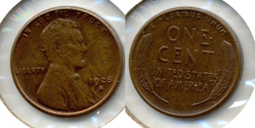 1928-S Lincoln Cent MS-63 Brown