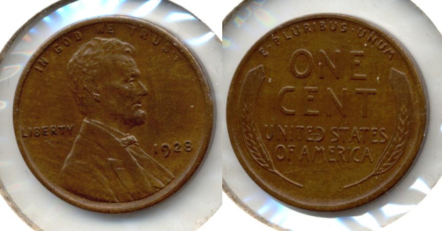 1928 Lincoln Cent MS-60 Brown